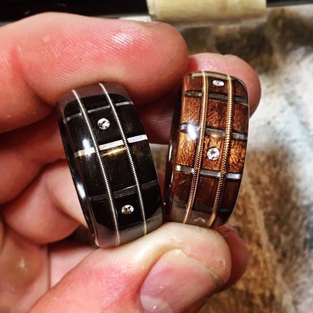White Diamond Inlays In Our Guitar Fretboard Rings