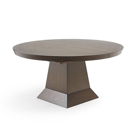 Leighton 62 Round Dining Table In Burnished Brown Dining Table
