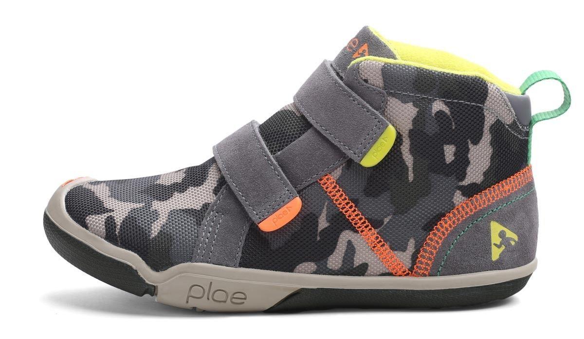 Plae Max Sneakers | Steel + Camo | Boys