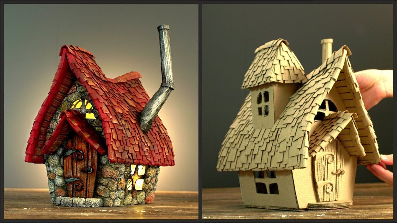 DIY Fairy House Cottage Using Cardboard YouTube in 2020