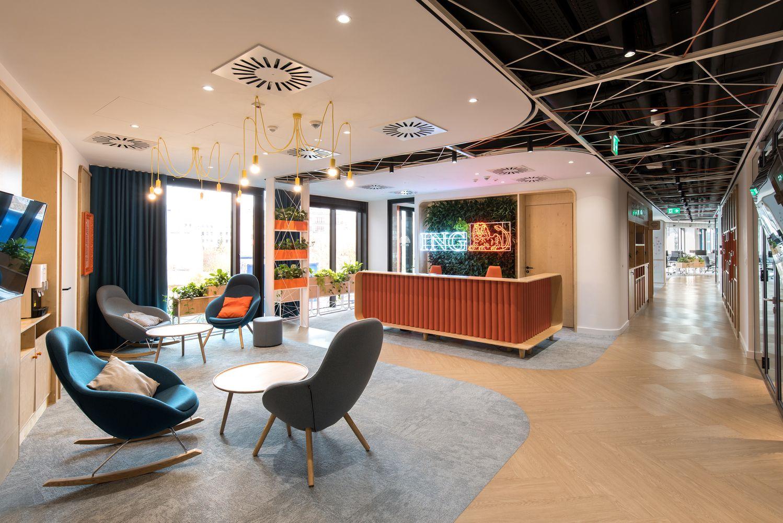 Gallery Of Ing Tech Offices Poland Mode Lina Architekci 6 Bank Interior Design Office Interiors Interior