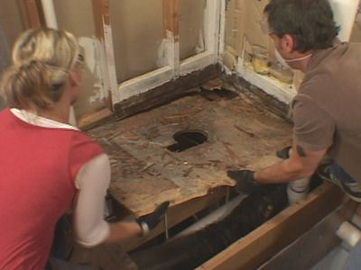 How to lay a subfloor bathroom home remodeling diy - How to replace subfloor in bathroom ...