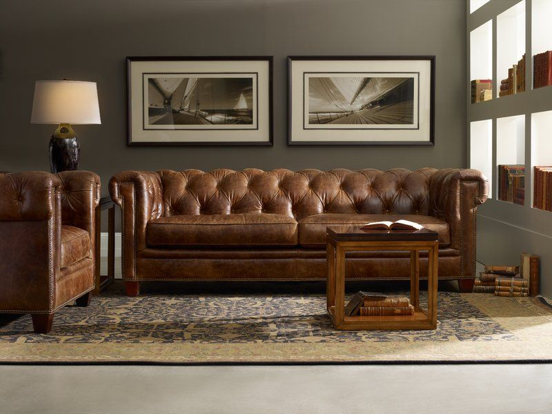 Stationary Leather Chesterfield Sofa is part of Leather chesterfield sofa - You'll love the Stationary Leather Chesterfield Sofa at Wayfair  Great Deals on all Furniture products with Free Shipping on most stuff, even the big stuff