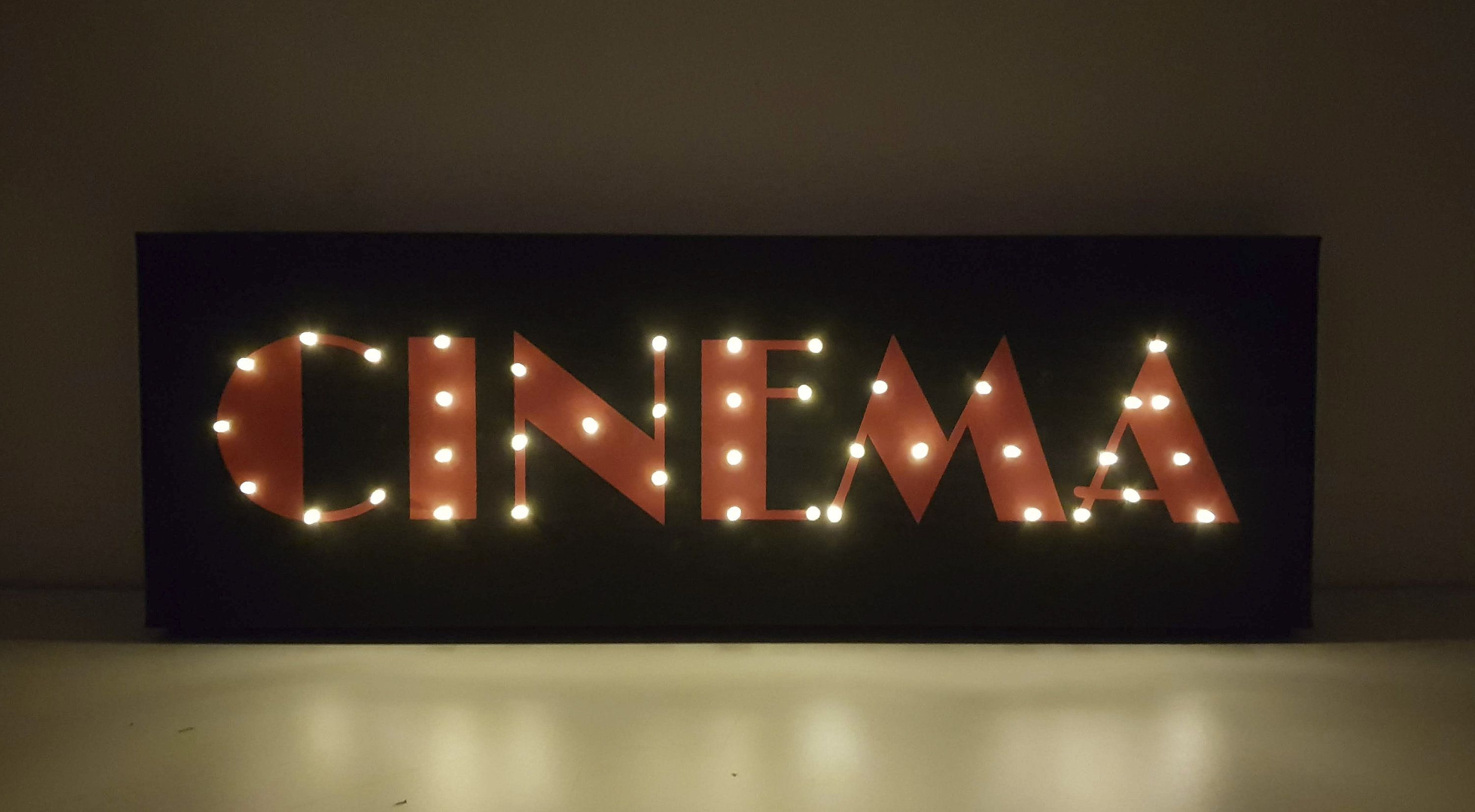 Cinema Room Decor, Home Cinema, Cinema Sign, Personalized Theater Sign, Home Theater Decor, Theater Room Decor, Theater Sign, Light Up Sign
