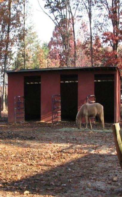 Small 3 Stall Horse Barn