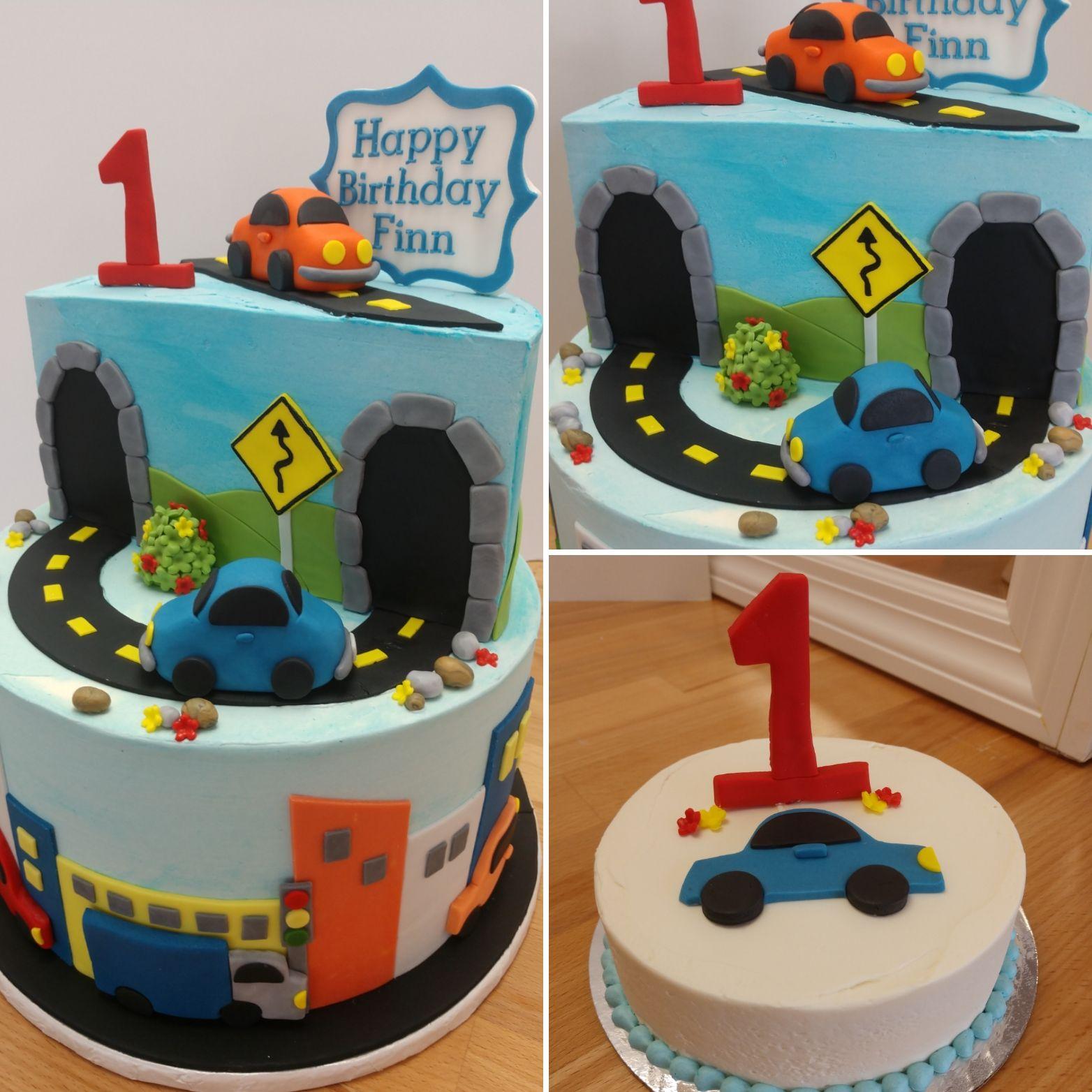 Prime Birthday Cakes For Kids Cars And Trucks Cake First Birthday Funny Birthday Cards Online Hendilapandamsfinfo