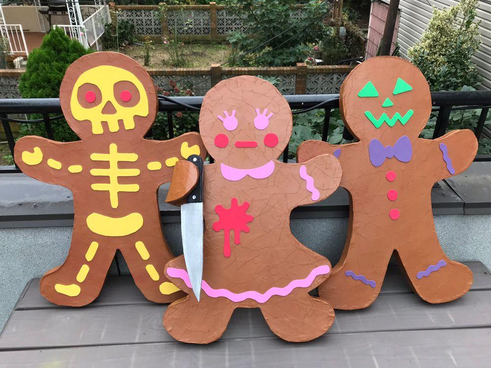 Paper maché gingerbread men Gingerbread, Paper mache
