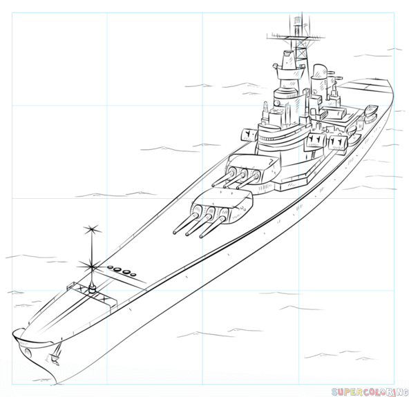 How To Draw A Battleship Step By Step Drawing Tutorials For Kids And Beginners Drawing Tutorial Step By Step Drawing Drawings