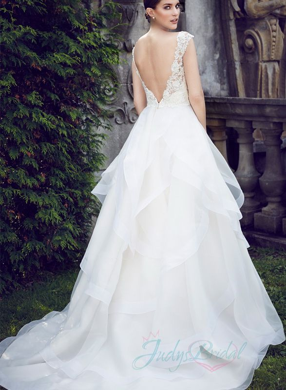 Tiered Organza Ball Gown