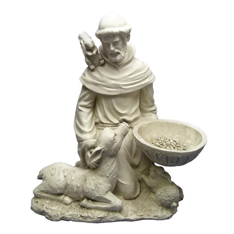 St francis feeds the animals garden statue beautiful homes and st francis feeds the animals garden statue workwithnaturefo