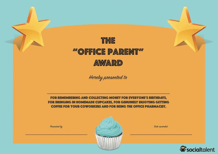 office awards Employee awards Office humor Employee