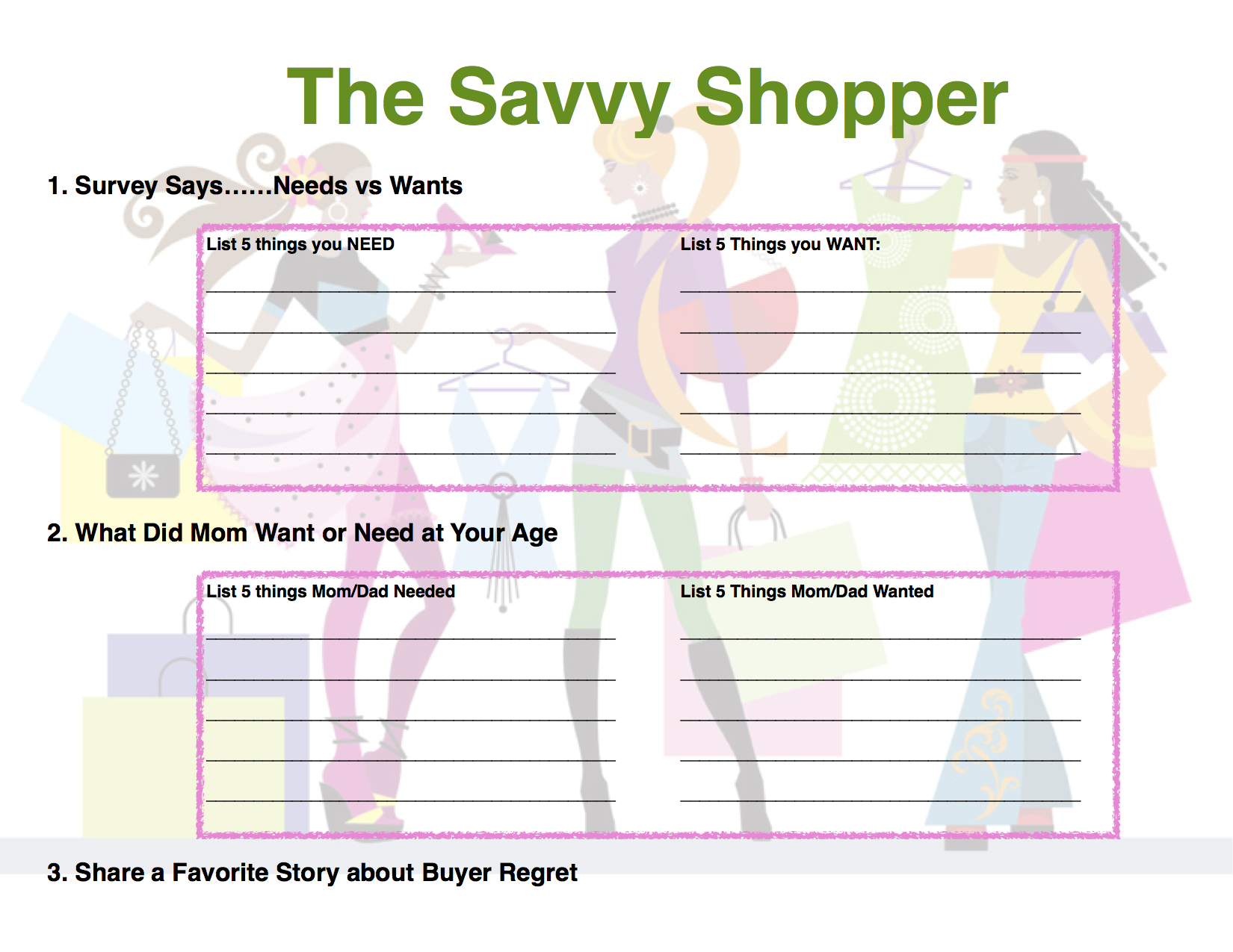 Savvy Shopper Badge Pg 1 A Free Field Trip To The Grocery