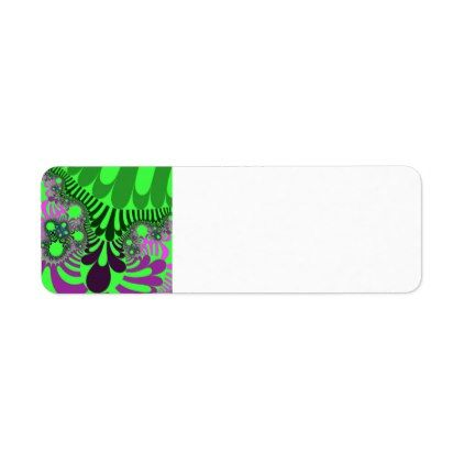 Green Grape Mod Return Address Labels  Pattern Sample Design