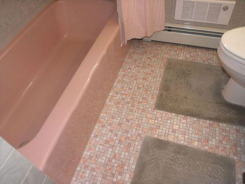 Mary Elizabeth S Year Long Little By Little 1959 Pink Bathroom Restoration Bathroom Restoration Pink Bathroom Pink Bathroom Tiles