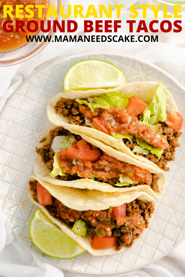 Restaurant Style Ground Beef Tacos Recipe In 2020 Easy Cooking Recipes Mexican Food Recipes Ground Beef Tacos