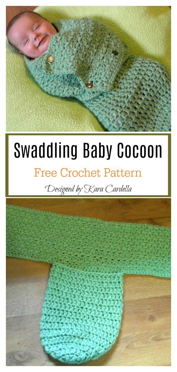 Swaddle Me Baby Cocoon Free Crochet Pattern #crochetbabycocoon