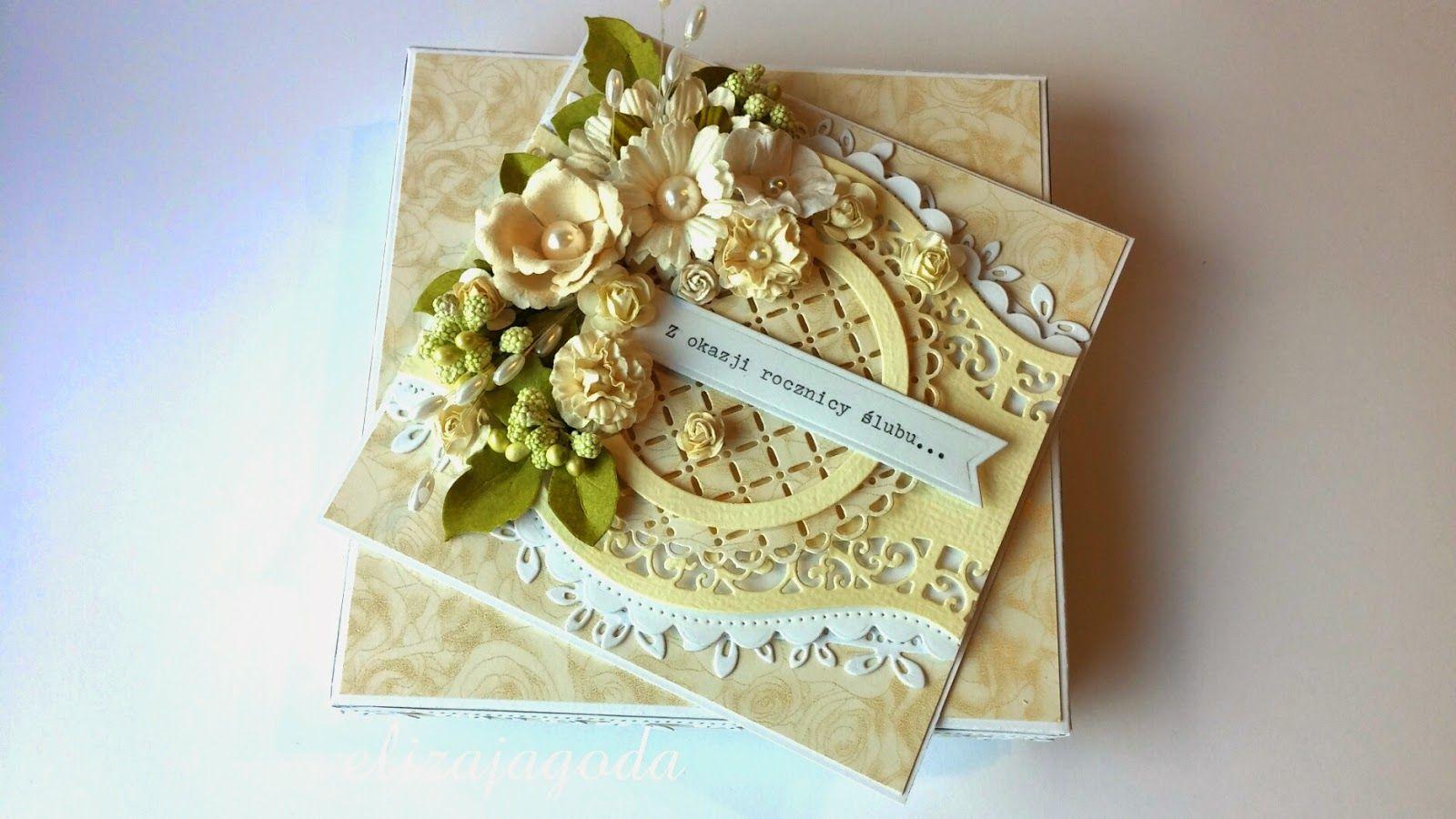 Z Okazji Rocznicy Slubu Flower Cards Gifts Crafts