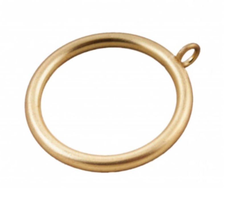 Brass Curtain Rings 1 5 Inch Rod Brass Round Rings Gold Etsy In