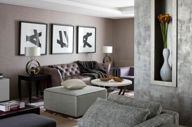 Peinture Salon Gris Et Rouge : Cuisine beige sol gris t couleurs ...