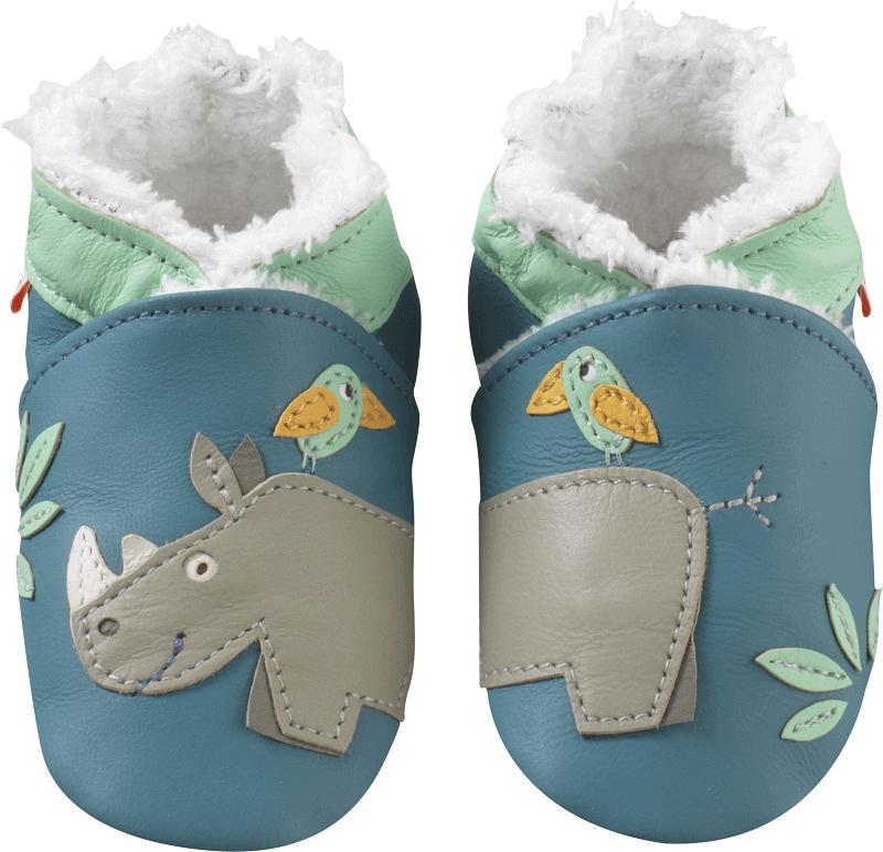 31a52f06be08d Chaussons bébé cuir souple fourrés rhinocéros - Chaussons bebe cuir - chaussons  bébé en cuir - chaussons en cuir souple - Tichoups