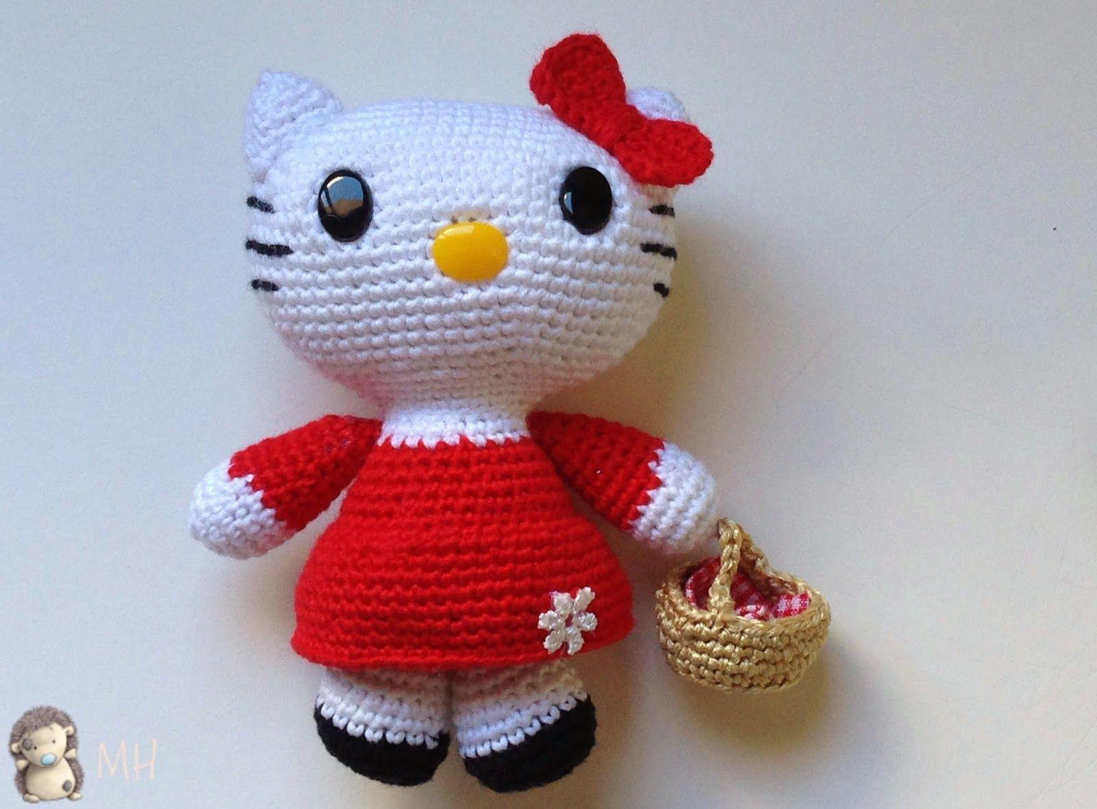 Amigurumis Navideños Patrones Gratis : Madres hiperactivas: hello kitty caperucita roja amigurumi patrón