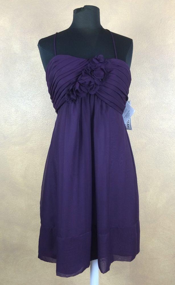 NWT WATTERS WTOO #397 Aubergene Spaghetti Strap Prom Bridesmaid Dress 10