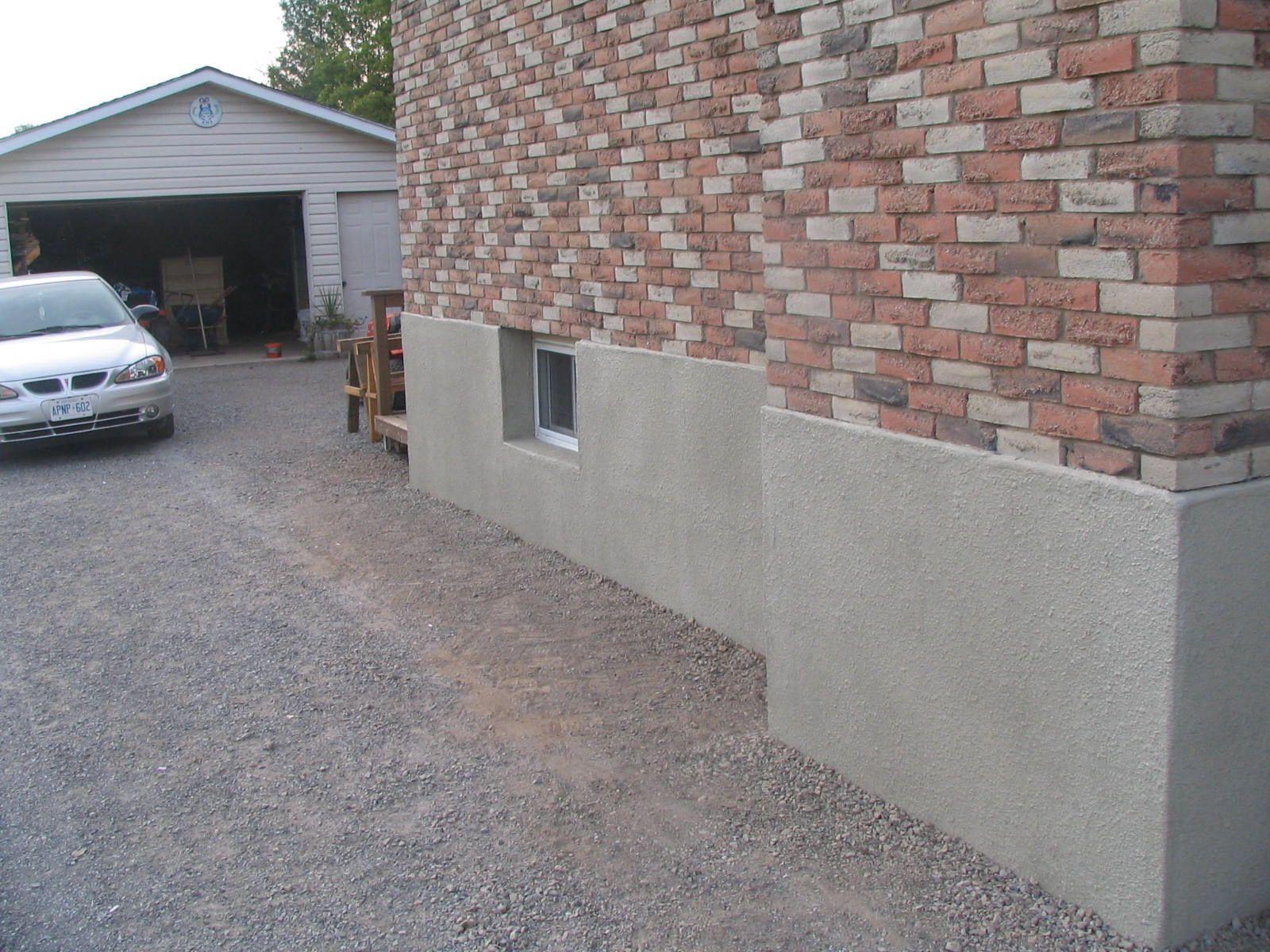 Parge Coat Basement Walls House Exterior Unique Houses Exterior Decor