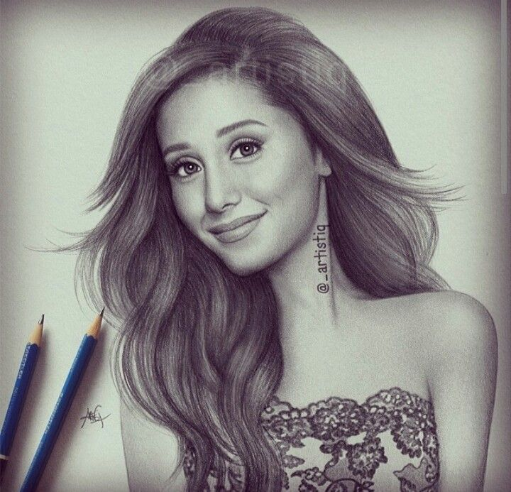 This drawing of ariana grande is amazing by artistiq