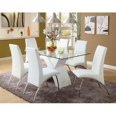 Orren Ellis Faust Upholstered Side Chair Wayfair In 2020 Dining Room Table Set Modern Dining Room White Dining Room Table