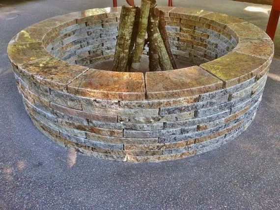 Granite Stone Firepit by WholesaleAdirondack on Etsy