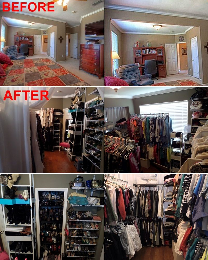 Convert Bedroom To Closet do it yourself girl! meg-made creations: turn a room into a closet