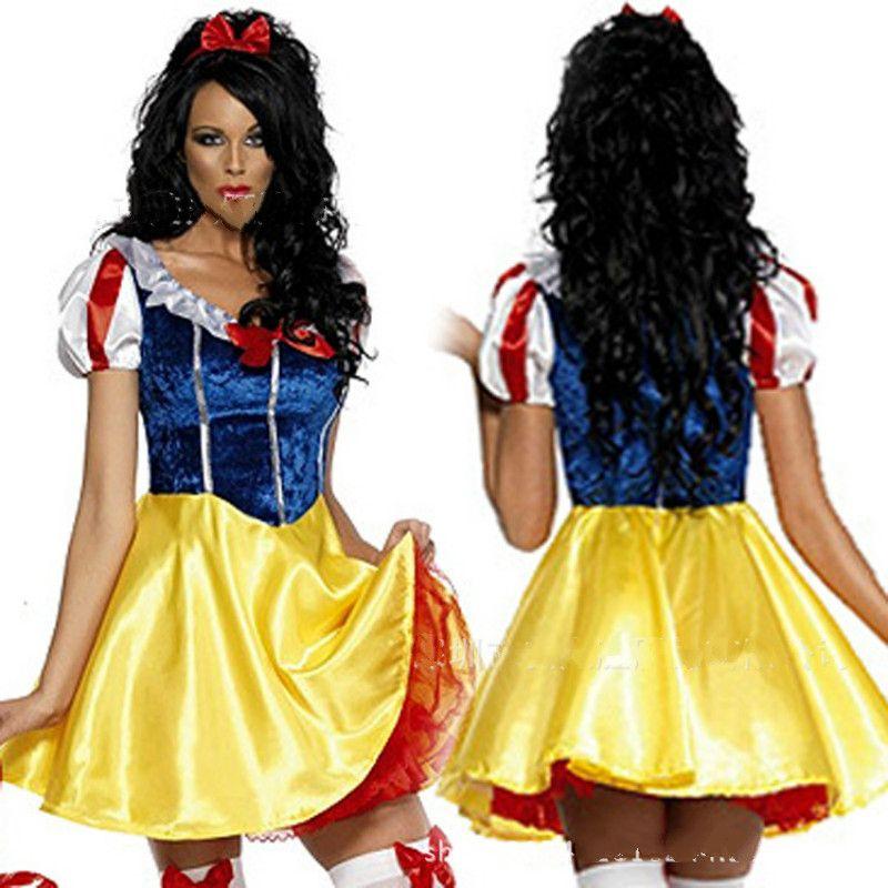 2017 fashion Women Fantasia Princess Snow White Cosplay Costume ...