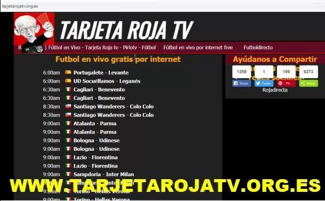 Tarjeta Roja Tv Futbol En Vivo Pirlo Tv Rojadirecto Perfil Pinterest