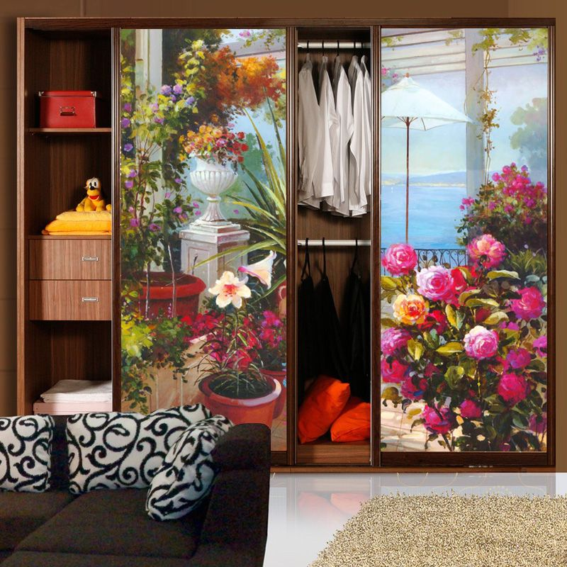 Delightful Decorative Self Adhesive/static Cling Frosted Stained Window Film  Translucent Sliding Door Bathroom Decals Landscape Paintings