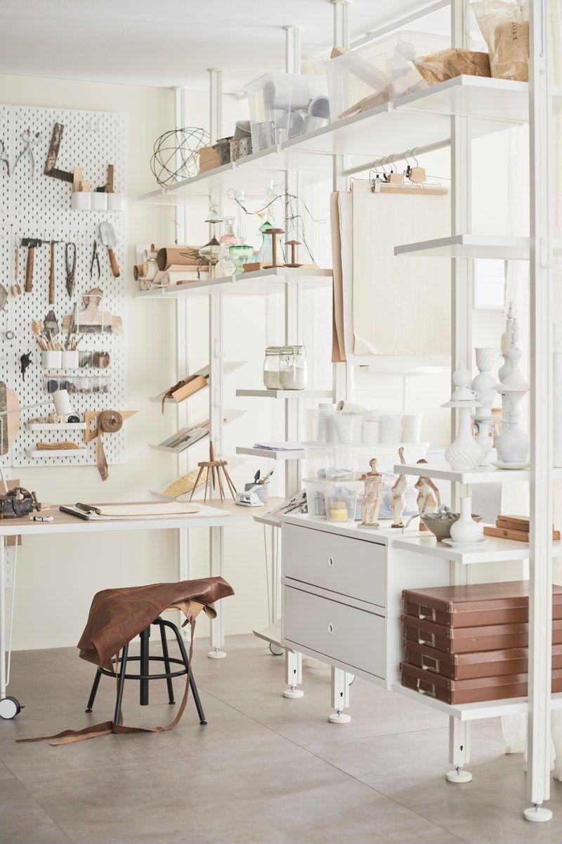 Elvari System Fur Kleiderschranke In 2020 Raumteiler Ikea Ikea Zuhause Begehbarer Kleiderschrank Einrichten