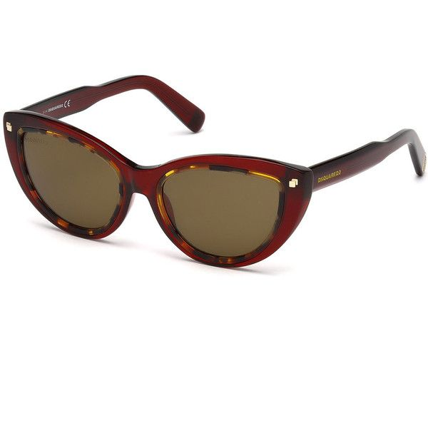 Dsquared2 Two-Tone Plastic Cat-Eye Sunglasses ($83) ❤ liked on Polyvore featuring accessories, eyewear, sunglasses, plastic glasses, logo lens sunglasses, cat eye sunglasses, logo sunglasses and tortoise glasses