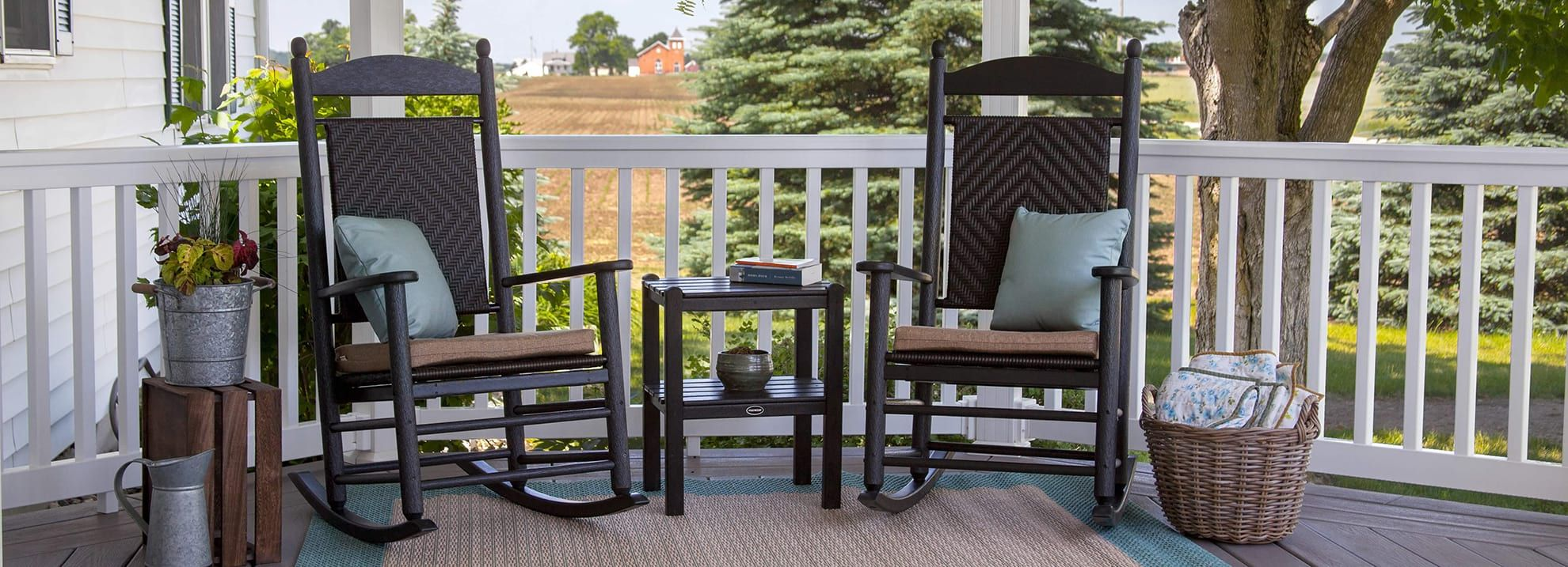 outdoor front porch furniture | porch table, chairs, porch