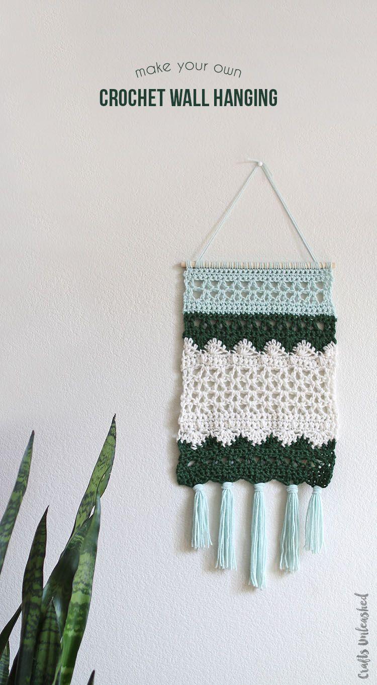 DIY Wall Hanging: Crochet Pattern - Consumer Crafts | Diy wall, Wall ...