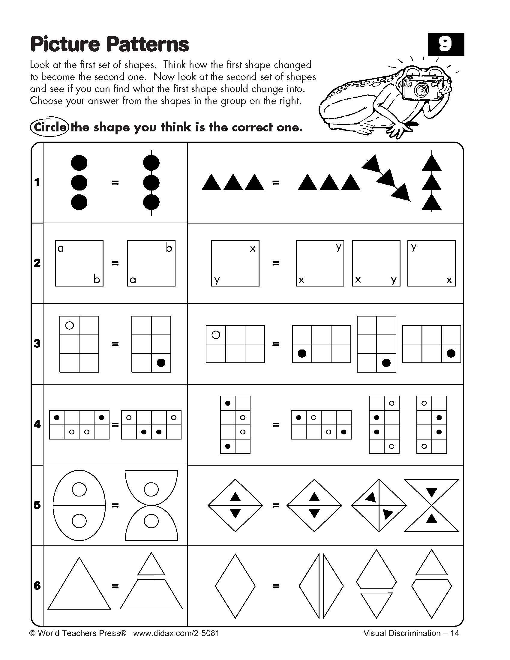 Visual Discrimination: Exploring and Solving Picture Patterns | Math ...
