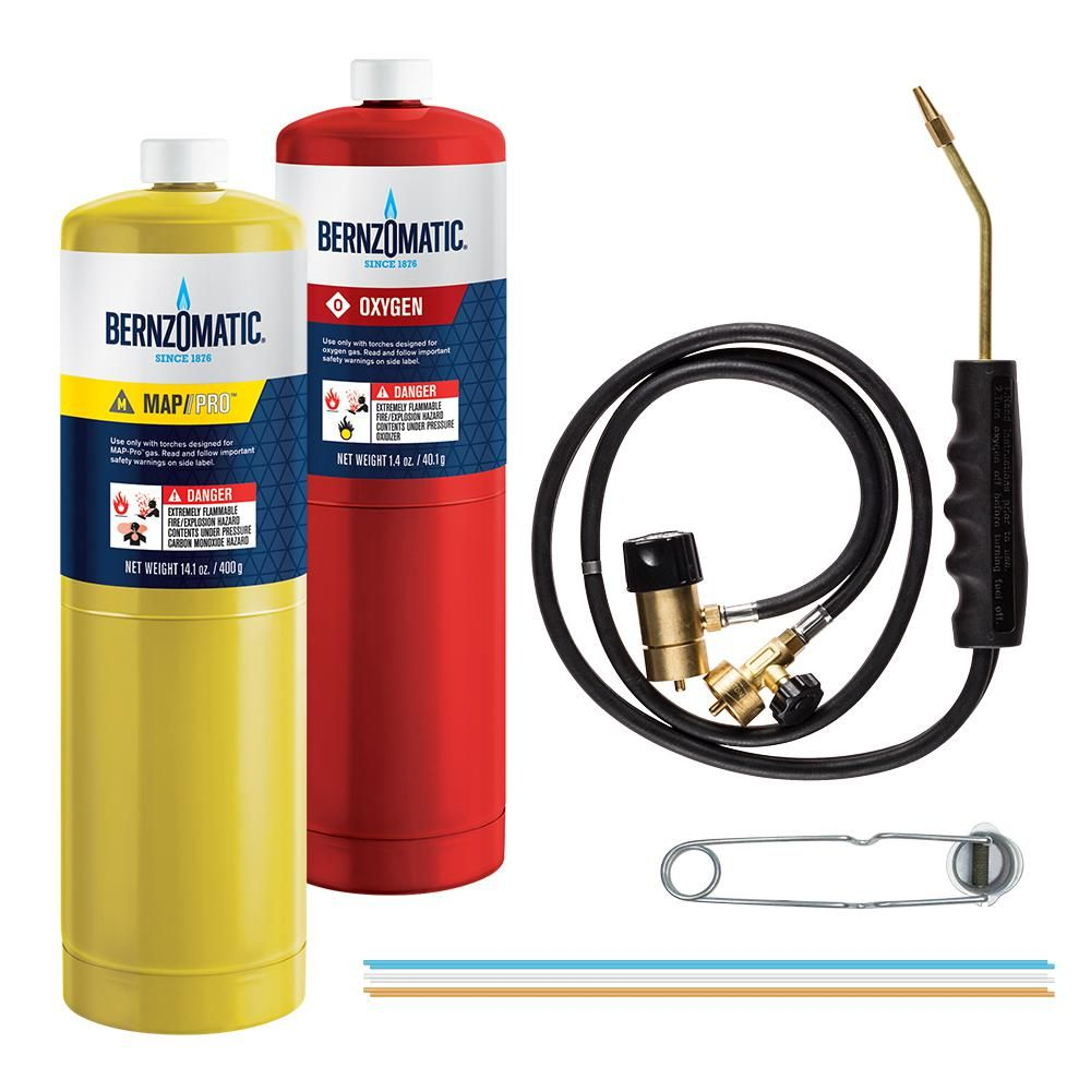 Bernzomatic Wk5500 Brazing Torch Kit 361487 The Home Depot Brazing Bernzomatic Torch