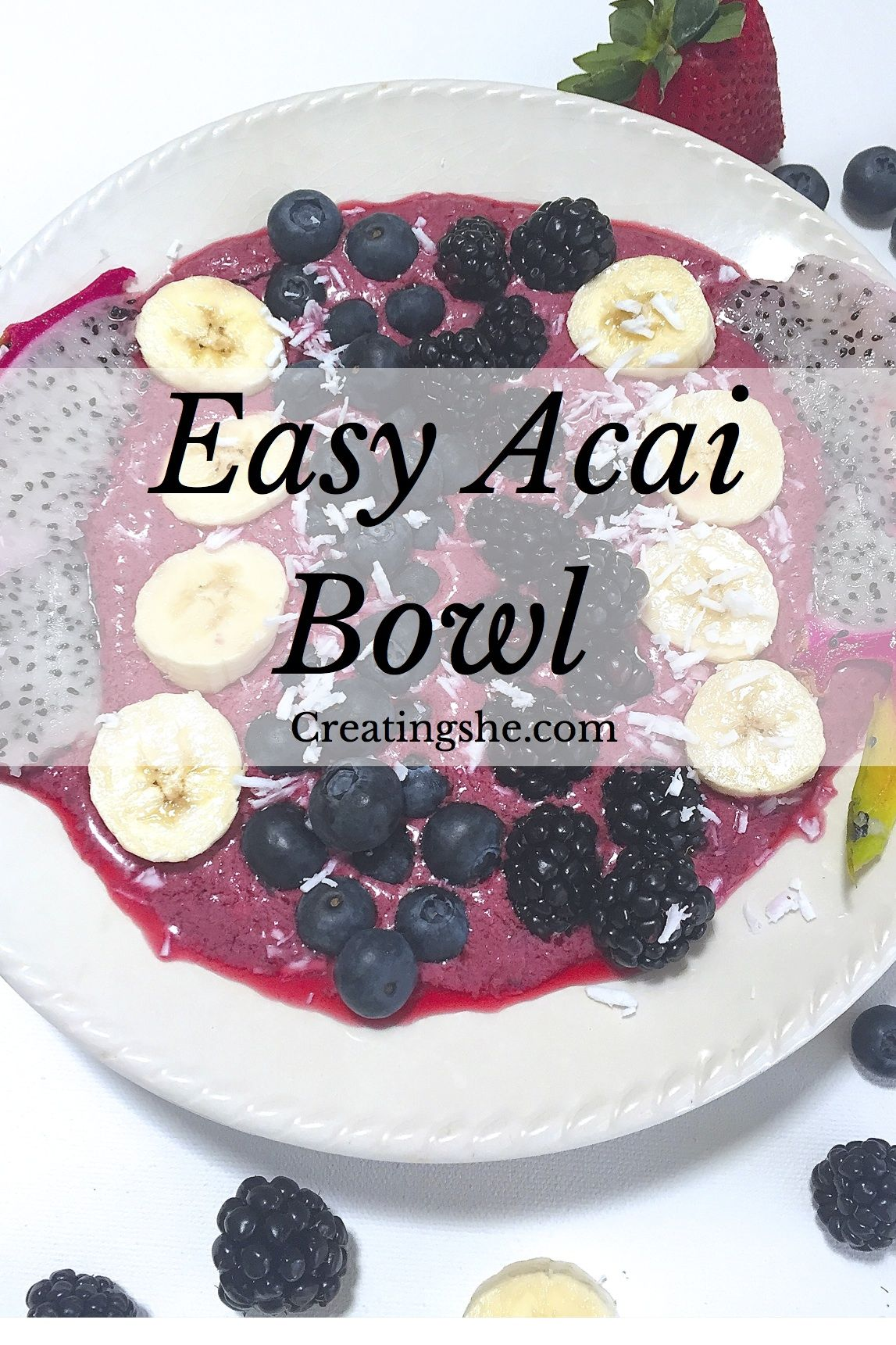 Beginners Guide to Acai Bowls! Recipe and Shopping List for the perfect healthy breakfast.