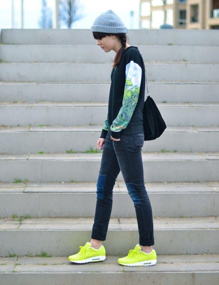 Air max 1 skinny jeans