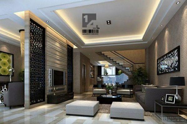 Wohnideen Zimmer Luxuriös Gestalten Trennwan Mit Dekoration Versteckte  Beleuchtung