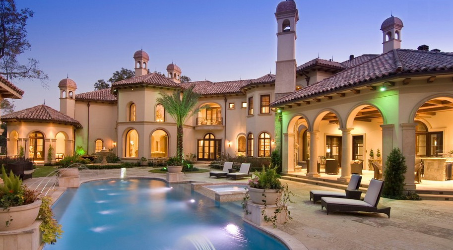Stunning mediterranean mansion in houston tx built by Mediterranean style homes houston
