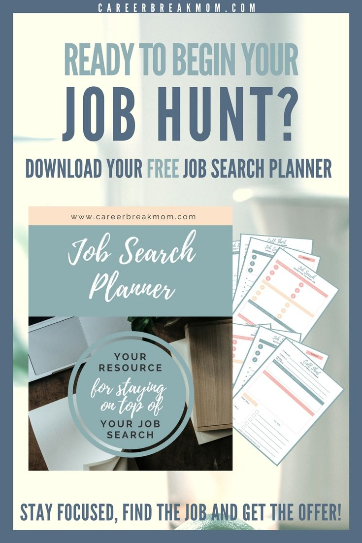 Job Search Planner  Job Search Dream Job And Career