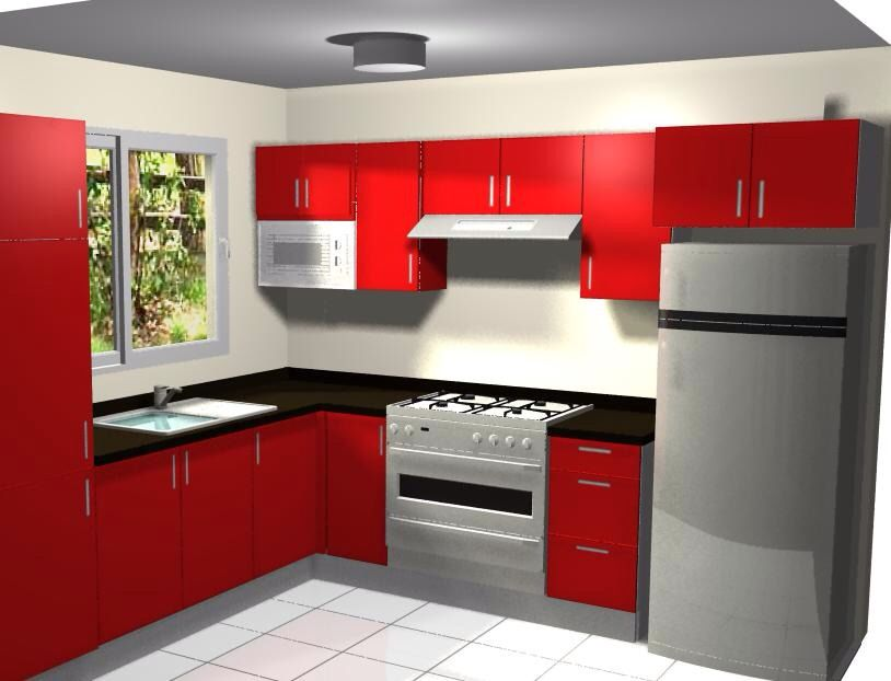 Cocina con mueble sobre refrigerador cocina pinterest for Cocinas integrales en escuadra
