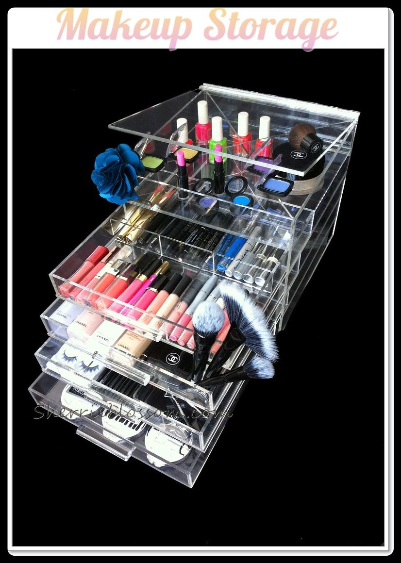 9 ORGANIZE AND STORE YOUR MAKEUP Makeup storage, Acrylic