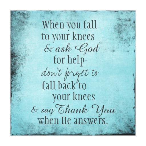 Seien Sie IMMER dankbar