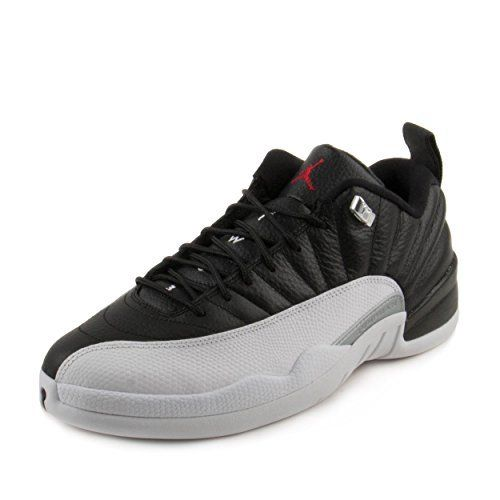 93a41558b Jordan Air 12 Retro Low Men s Shoes Black White Metallic Silver Varsity Red  308317-004 (9 D(M) US)