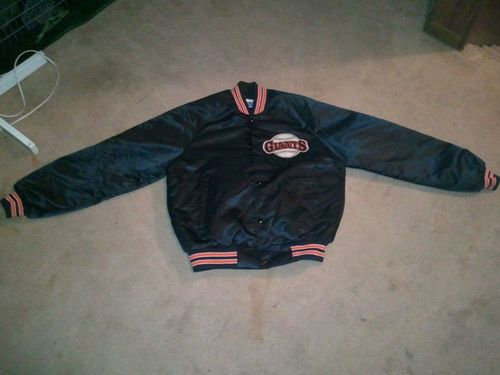 """Vintage San Francisco Giants Jacket: the fact that this is """"vintage"""" (circa. '89) makes me feel old I had one of these!"""
